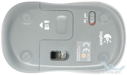 Logitech Wireless M235. Вид снизу