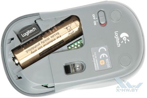 Аккумуляторный отсек Logitech Wireless M235