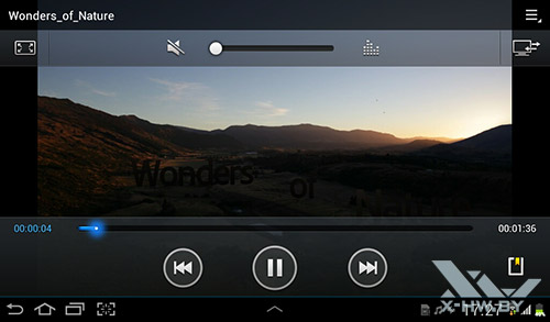 Видеоплеер на Samsung Galaxy Tab 2 7.0. Рис. 2