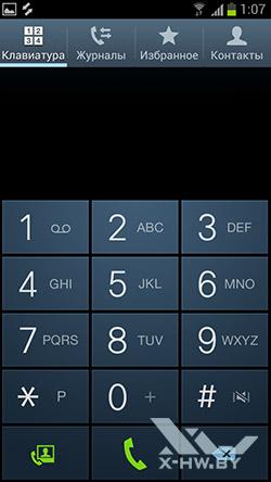 Приложение для совершения звонков на Samsung Galaxy S III. Рис. 1