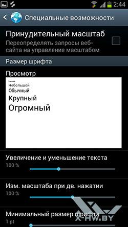Настройки браузера на Samsung Galaxy S III. Рис. 6