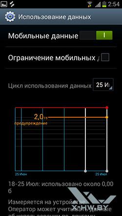 Настройки Samsung Galaxy S III. Рис. 2
