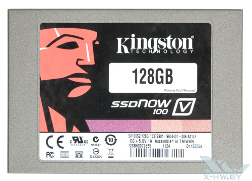Kingston SSDNow V100 128 Гбайт. Вид сверху