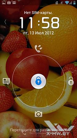 Экран блокировки Huawei Ascend P1
