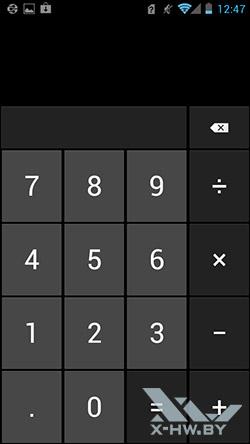 Калькулятор на Huawei Ascend P1
