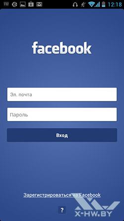 Клиент Facebook на Huawei Ascend P1