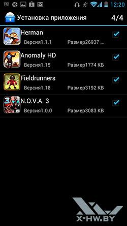 Установка приложений на Huawei Ascend P1