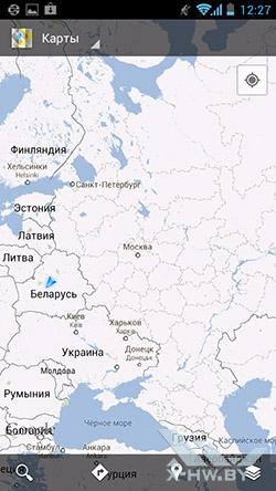 Google Maps на Huawei Ascend P1. Рис. 1