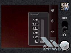 Масштаб камеры Huawei Ascend Y100