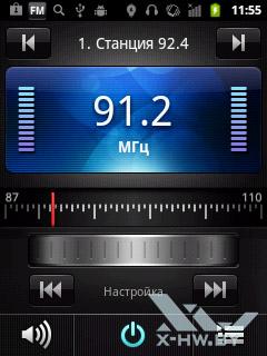 FM-тюнер на Huawei Ascend Y100. Рис. 1
