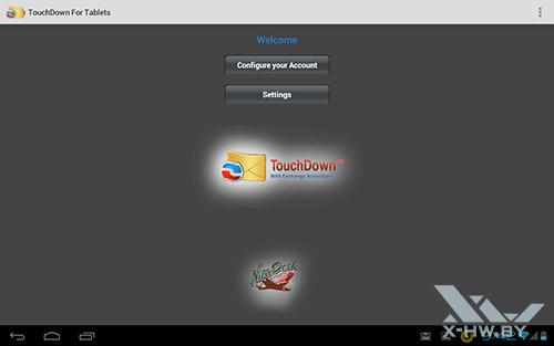 Клиент TouchDown foк Tablets на Fujitsu STYLISTIC M532