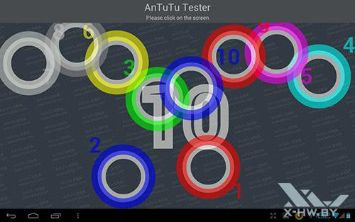 Число касаний, распознаваемых экраном Fujitsu STYLISTIC M532