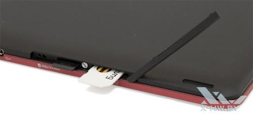 Разъемы для карт microSD и SIM на Fujitsu STYLISTIC M532