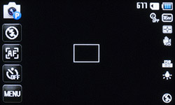 Главное меню Samsung MV800