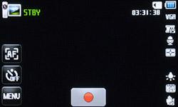 Меню записи Samsung MV800