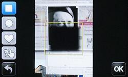 Съемка с рамкой на Samsung MV800