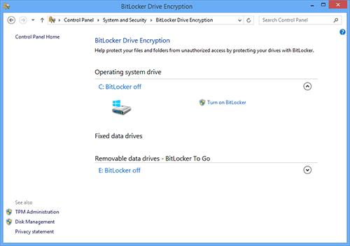 BitLocker в Windows 8