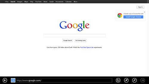 Metro-версия Internet Explorer 10. Рис. 1