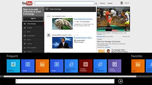 Metro-версия Internet Explorer 10. Рис. 4