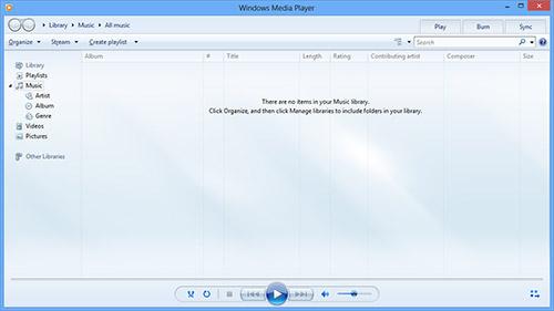 Media Player в Windows 8