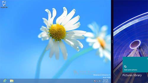 Функция Metro snap в Windows 8. Рис. 1