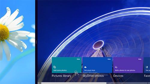 Функция Metro snap в Windows 8. Рис. 2