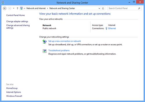 Настройки сетей в Windows 8