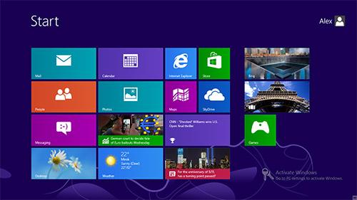 Стартовый экран Metro в Windows 8