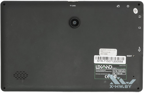 Lexand STR-7100 HDR. Вид сзади