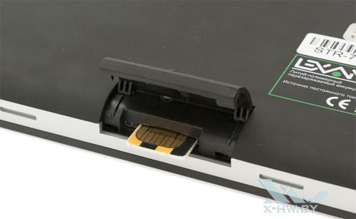 Отсек для SIM-карты на Lexand STR-7100 PRO HD