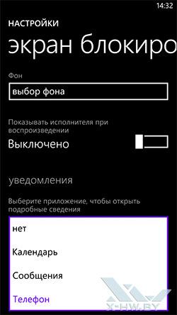 Настройки экрана блокировки Samsung ATIV S