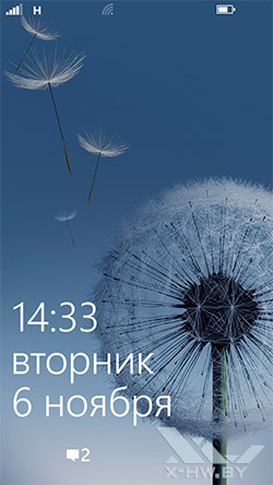 Экран блокировки Samsung ATIV S