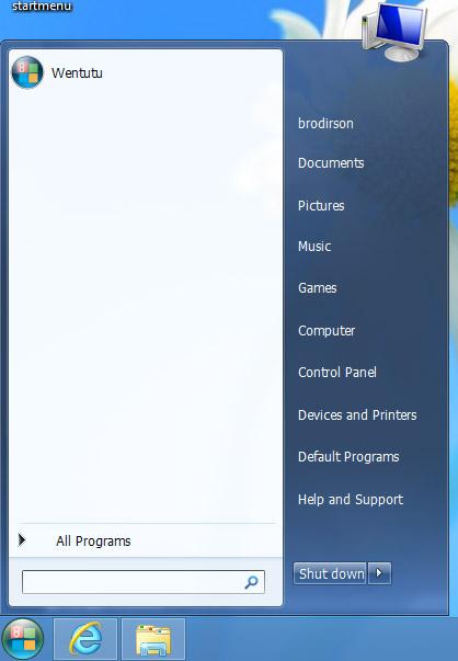 Wentutu Windows 8 Start Menu. Рис. 1