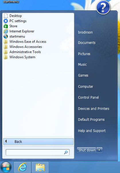 Wentutu Windows 8 Start Menu. Рис. 2