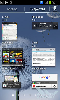 Виджеты Samsung Galaxy S Duos. Рис. 7