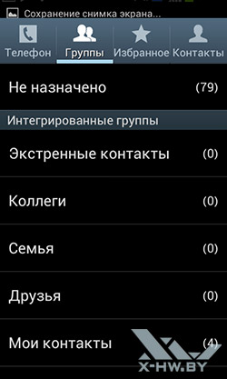 Контакты на Samsung Galaxy S Duos. Рис. 2