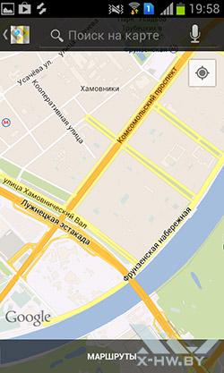 Карты на Samsung Galaxy S Duos. Рис. 3