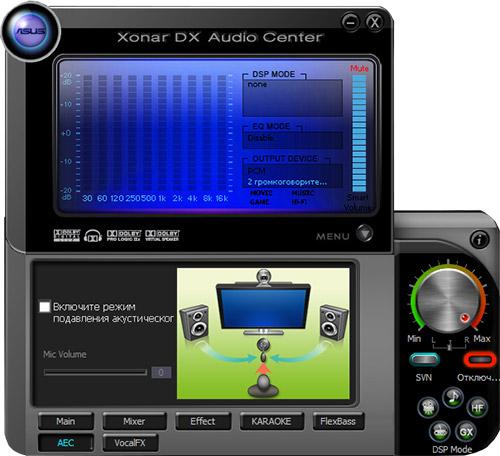 ASUS Xonar DX Audio Center. Рис. 5
