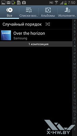 Музыкальный плеер на Samsung Galaxy Premier. Рис. 1