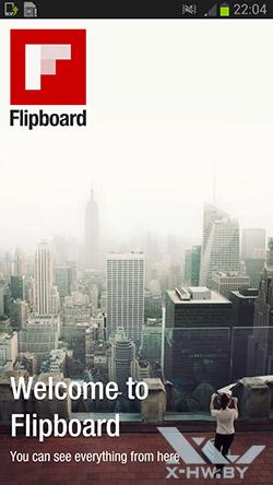 Приложение Flipboard на Samsung Galaxy Premier. Рис. 1