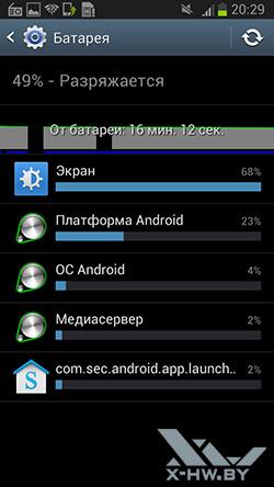 Разрядка батареи на Samsung Galaxy Premier