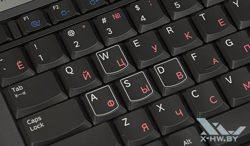 Клавиши WASD на Samsung Gamer 700G7A