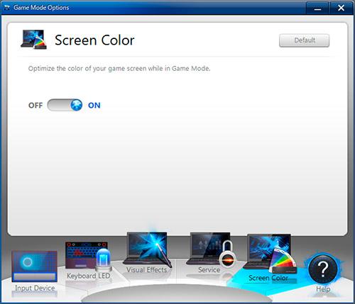 Game Mode Options на Samsung Gamer 700G7A. Рис. 5
