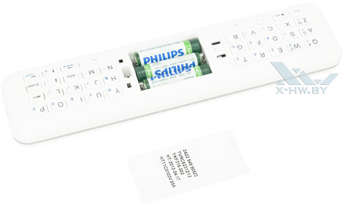 Пульт ДУ Philips 46PFL8007T. Отсек для аккумуляторов