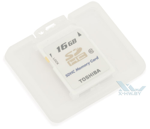 Toshiba SDHC 16 Гбайт class 10 в кейсе