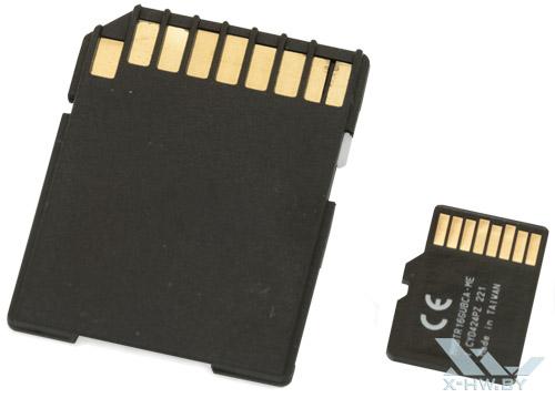 GOODRAM microSDHC 16 Гбайт class 10. Вид сзади