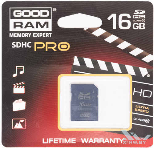 GOODRAM SDHC 16 Гбайт class 10 в упаковке