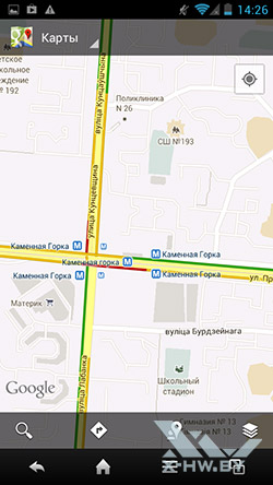 Карты Google на Sharp SH631W. Рис. 3