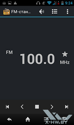 FM-радио на Sharp SH530U. Рис. 1