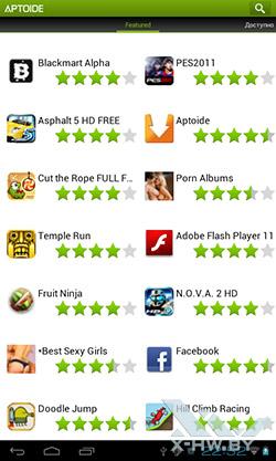 Магазин приложений Aptoide на PocketBook SURFpad. Рис. 2